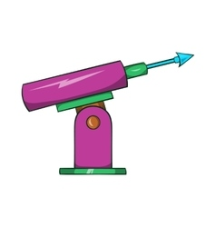 Harpoon for fishing icon cartoon style vector