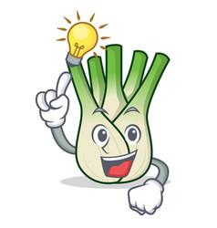 Have an idea fennel mascot cartoon style vector