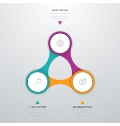 infographics three options vector image