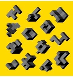 Isometric abstract geometric vector image