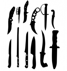 Knifes silhouettes vector