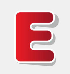 letter e sign design template element new vector image