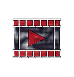 Movie film strip icon play button vector
