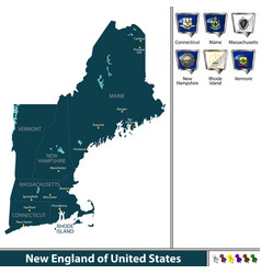 New england of united states vector
