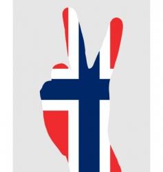 Norwegian finger signal vector image vector image