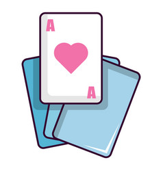 red ace magic cards icon cartoon style vector image