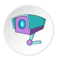 Security camera icon cartoon style vector image vector image