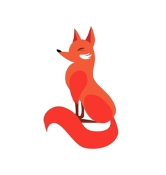 Sitting Fox In Flat Style vector image vector image