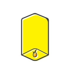 Sky lantern icon in flat style vector