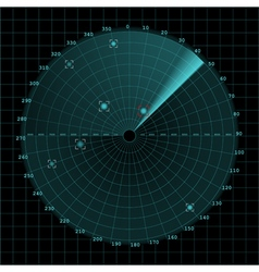 Sonar screen on grid vector
