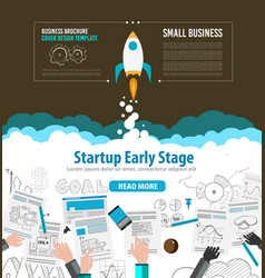 Startup fly brrwn vector