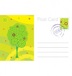 summer post card template vector image vector image