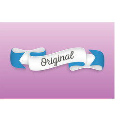 trendy retro ribbon with text original colorful vector image