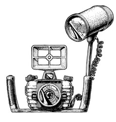 underwater camera vector image vector image
