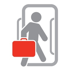 Passenger with luggage moving forward vector image