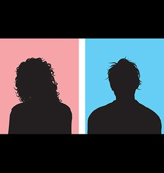 Male and female avatars vector