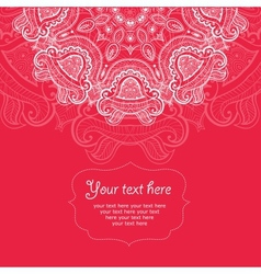 Invitation card with lace ornament 6 vector