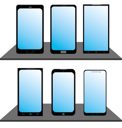 Set of mobile phones vector