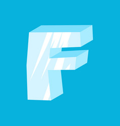 Letter f ice font icicles alphabet freeze vector