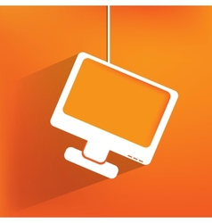 Monitor web icon flat design vector