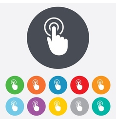 Hand cursor sign icon Hand pointer symbol vector image