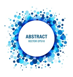 Blue bright abstract circle frame design element vector