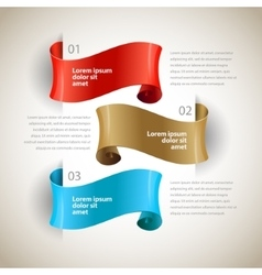 Ribbons design infographics template vector