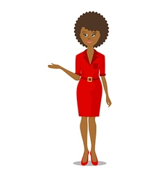 african black woman in red vector image