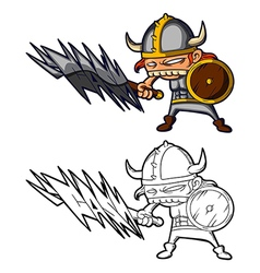 Big teeth viking vector