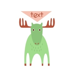 Cute deer with a sign for text vector