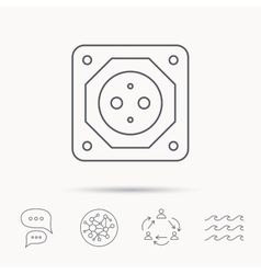 European socket icon electricity power adapter vector