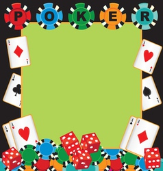 Poker party gambling invitation vector