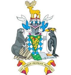 South georgia coat-of-arms vector