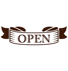 Graphic vintage open on ribbon vector