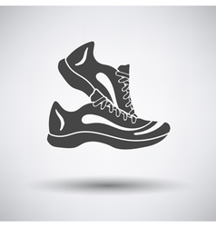 Fitness sneakers icon vector