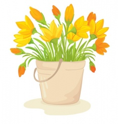 a bouquet of yellow flowers vector image
