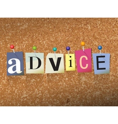 Advice concept vector