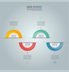 Business concept with 4 options steps or vector