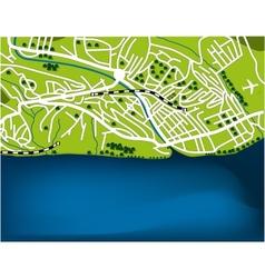 Cartoon map of Sochi Russia vector image vector image