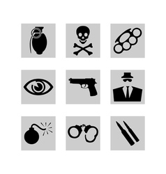 crime icons vector image