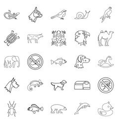 Darling icons set outline style vector