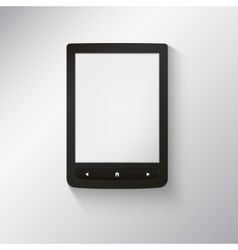 E-book reader you may add your own text or picture vector