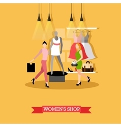 fashion womens shop and vector image vector image