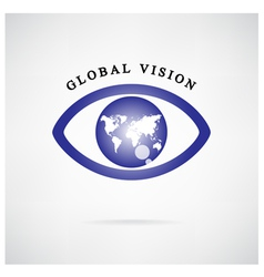 global vision signeye iconsearch symbol vector image vector image