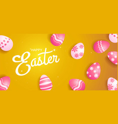 happy easter template banner vector image vector image