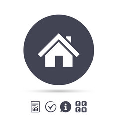 home sign icon main page button navigation vector image vector image