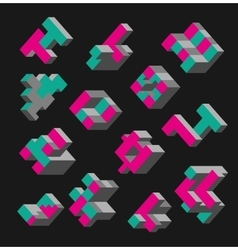 Isometric abstract geometric vector image
