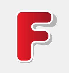 Letter f sign design template element new vector