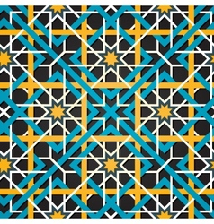 Moroccan ornament seamless background vector