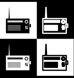 Radio sign black and white vector